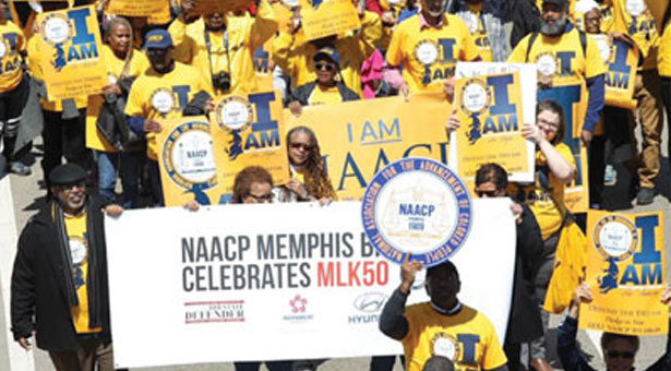 NAACP joins in Connecting Civil Rights legacies of the past and present with 'I AM' Campaign, while saluting Memphis Sanitation Workers on MLK 50th Anniversary