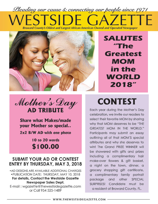 Salute The Greatest Mom In The World 2018 Mother S Day Ad Tribute