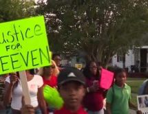 Community held demonstration for Keeven Robinson who died after struggle with Sheriff's Deputies in Louisiana