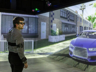 Researchers working at the University of Leeds' HIKER (Highly Immersive Kinematic Experimental Research) simulator are using virtual reality technology to improve the safety of self-driving vehicles. (University of Leeds/Zenger)