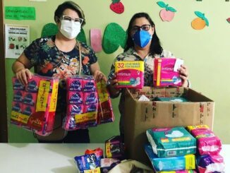 Period pad donations have enabled dozens of low-income Brazilian women to obtain an item that they are often unable to purchase. (Courtesy of Maria H. Sarquiz)